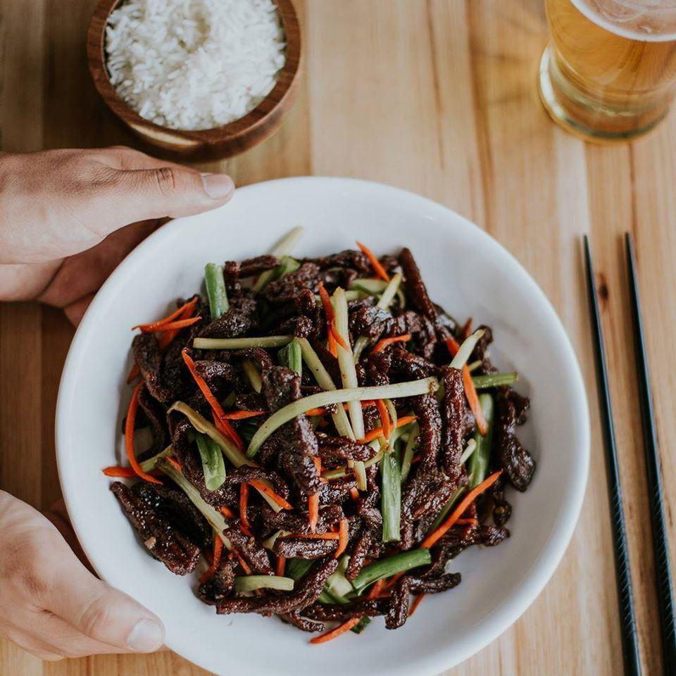 """<p>P.F. Chang's covers flank steak in garlic and soy glaze for a sweet and savory and even a little spicy blend. It's pretty simple, but there's beauty in that simplicity, because this classic dish has long been the chain's most-ordered. All it needs is a little rice and the <a href=""""https://www.pfchangs.com/menu/mongolian-beef"""" rel=""""nofollow noopener"""" target=""""_blank"""" data-ylk=""""slk:Mongolian beef"""" class=""""link rapid-noclick-resp"""">Mongolian beef</a> is a timeless choice: always delicious, always comforting, always satisfying. Do a quick search for this dish, and the endless results of copycat recipes are all the proof you need of its staying power.</p>"""