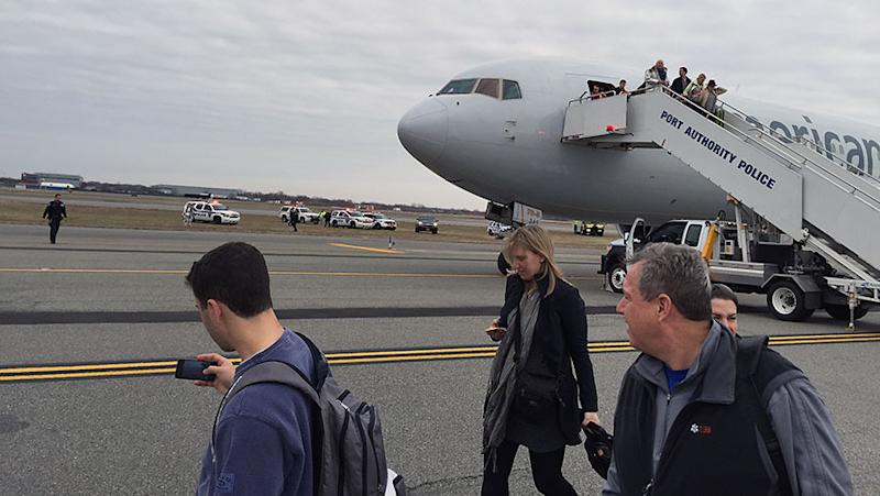 A bomb threat on a flight was found to be false. Photo: AP