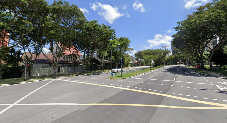 The pedestrian crossing at Yio Chu Kang road. (Photo is a screengrab from Google Streetview)