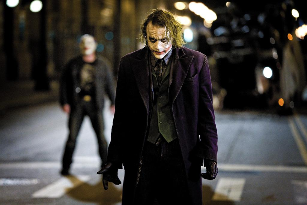 "<a href=""http://movies.yahoo.com/movie/contributor/1800018553"">Heath Ledger</a> as the Joker in Warner Bros. Pictures' <a href=""http://movies.yahoo.com/movie/1809271891/info"">The Dark Knight</a> - 2008"