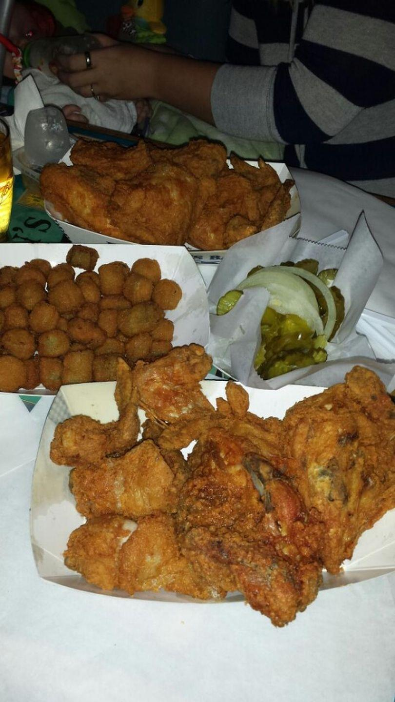 """<p><a href=""""https://www.tripadvisor.com/Restaurant_Review-g51556-d1008428-Reviews-Eischen_s_Bar-Okarche_Oklahoma.html"""" rel=""""nofollow noopener"""" target=""""_blank"""" data-ylk=""""slk:Eischen's Bar"""" class=""""link rapid-noclick-resp"""">Eischen's Bar</a>, Okarche</p><p>As Oklahoma's oldest bar, Eischen's also holds the title for possibly serving the most fried chicken. Each week Eischen's sells more than 24,000 pieces of its delectable fried chicken.<span class=""""redactor-invisible-space""""> - Foursquare user <a href=""""https://foursquare.com/foodnetwork"""" rel=""""nofollow noopener"""" target=""""_blank"""" data-ylk=""""slk:Food Network"""" class=""""link rapid-noclick-resp"""">Food Network</a></span><br></p>"""