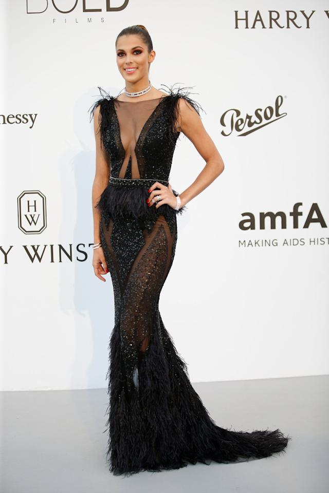 70th Cannes Film Festival – The amfAR's Cinema Against AIDS 2017 event – Photocall Arrivals - Antibes, France. 25/05/2017. Miss Universe Iris Mittenaere poses.       REUTERS/Stephane Mahe
