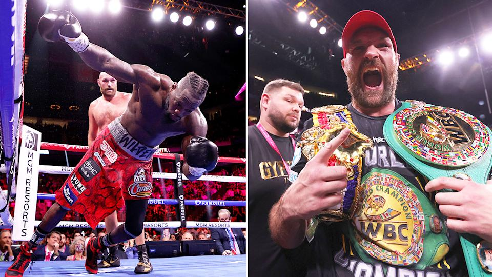 Tyson Fury won his trilogy bout against Deontay Wilder in one of the great heavyweight title fights of all time. Pic: Getty