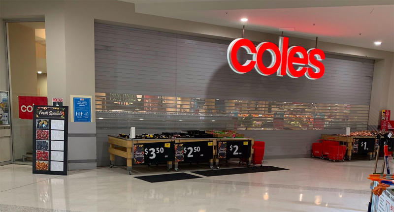 Coles supermarkets nationwide have been forced to close after experiencing an IT glitch. Source: Twitter