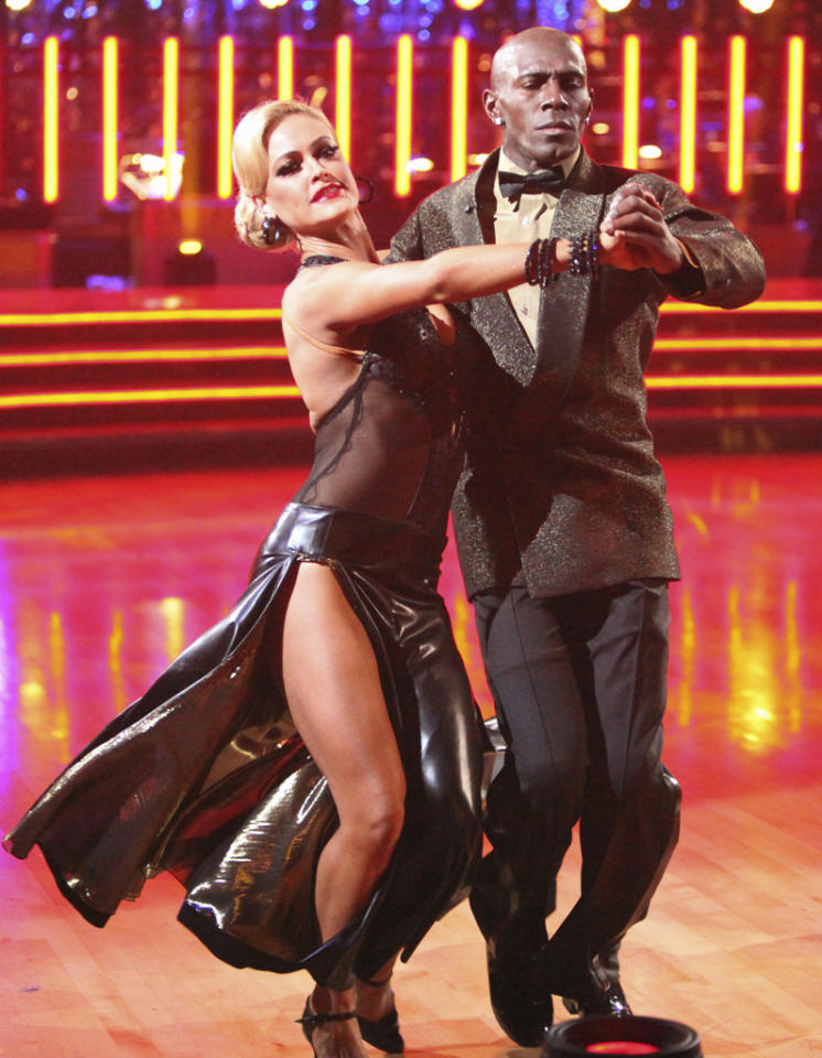 """Peta Murgatroyd and Donald Driver perform on """"Dancing with the Stars."""""""