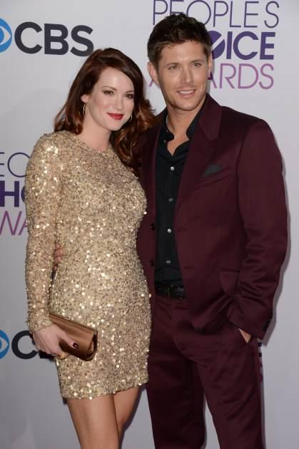 Jensen Ackles and Daneel Harris attend arrive for the 2013 People's Choice Awards at the Nokia Theatre in Los Angeles -- Getty Premium