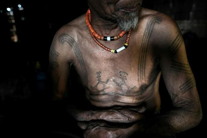 For the Naga in Myanmar's far north, tattoos can signify tribal identity, life accomplishments or the completion of a rite of passage (AFP Photo/Ye Aung THU)