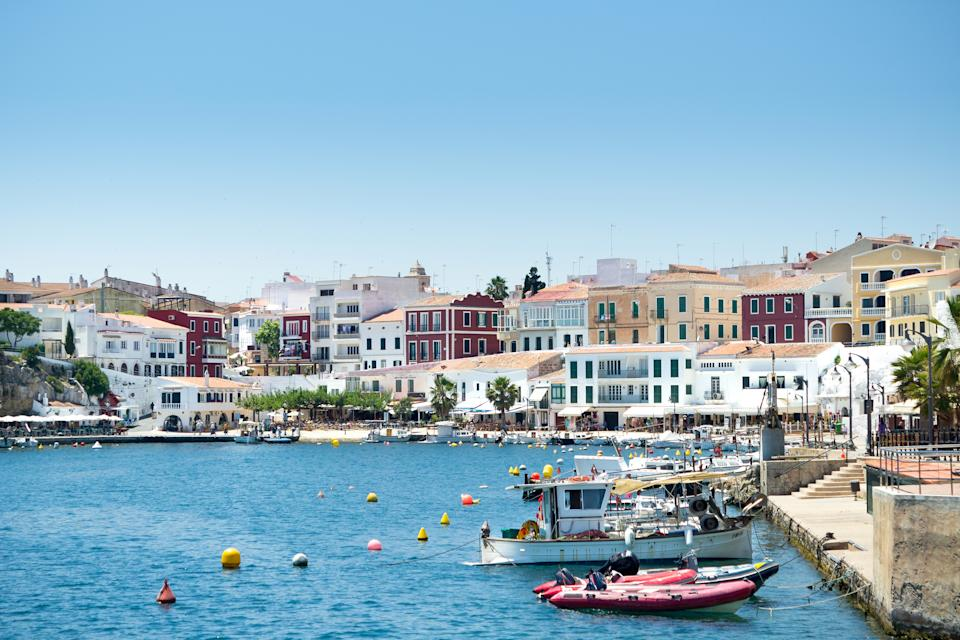 Moll des Cales Fonts harbour in Mahon. (Getty Images)