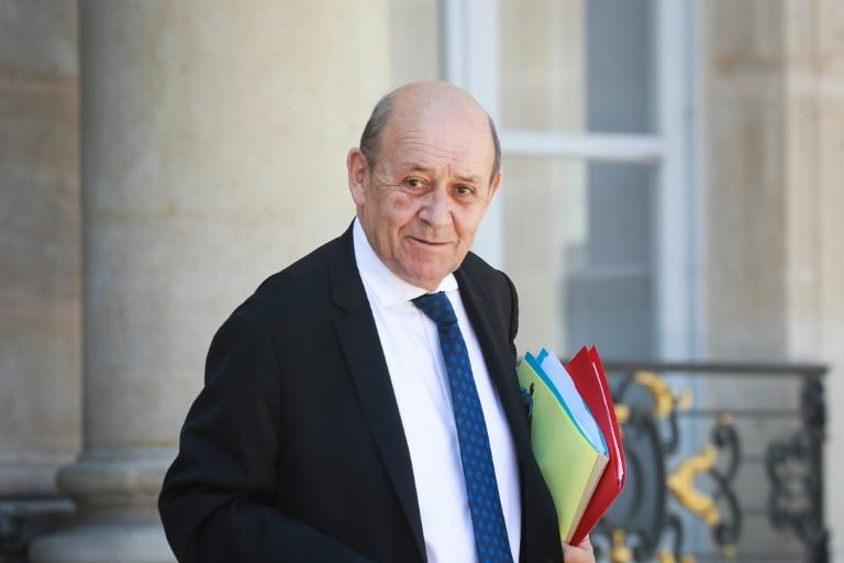 """French Foreign Affairs Minister Jean-Yves Le Drian (pictured May 2020) said, """"We cannot exclude the prospect of a 'no deal' but we want to avoid it"""""""