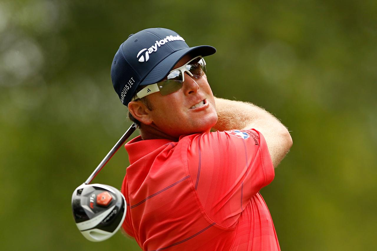 CHARLOTTE, NC - MAY 06:  D.A. Points of the United States hits his tee shot on the fourth hole during the final round of the Wells Fargo Championship at the Quail Hollow Club on May 6, 2012 in Charlotte, North Carolina.  (Photo by Streeter Lecka/Getty Images)