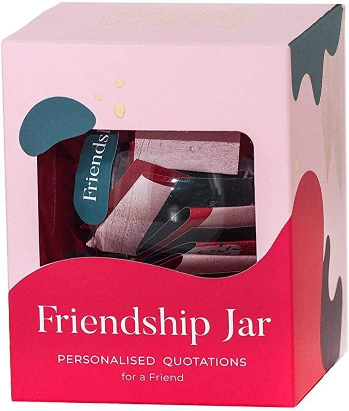 <p>The <span>Friendship Jar with 31 Quotations</span> ($20) can be personlized so that your best friend knows that your always there.</p>