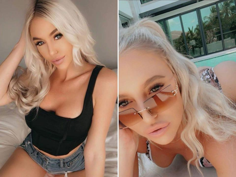 Two images of Karley Stokes