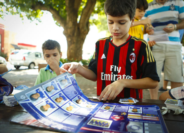 Panini's World Cup sticker collection has become a quadrennial worldwide obsession of fans of all ages. (Getty)