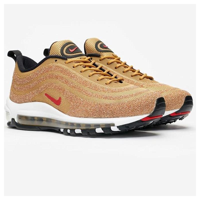 separation shoes 1bcfb c933a Nike Released a Pair of Swarovski-Covered Air Max 97 Shoes