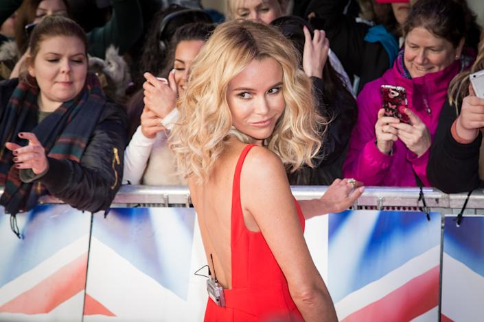 """Amanda Holden poses for photographers upon arrival at a photo call for """"Britain's Got Talent"""" in London, Friday, Jan. 22, 2016. (Photo by Vianney Le Caer/Invision/AP)"""