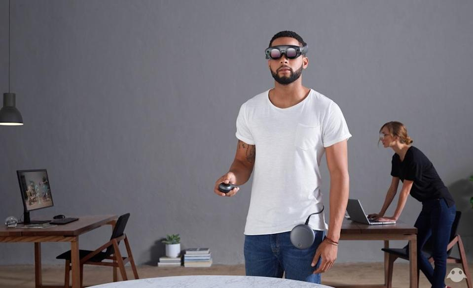 """The Magic Leap One uses """"light field"""" technology to make the wearer see digital images laid over the real world."""