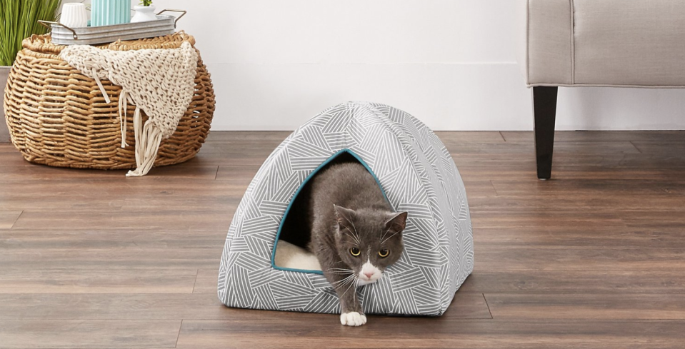 Fluffy and Fido will fight over who gets to sleep in this luxe igloo. (Photo: Chewy)