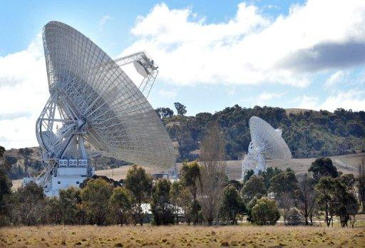 The antenna dishes received the signals for the entry, descent and landing of the spacecraft