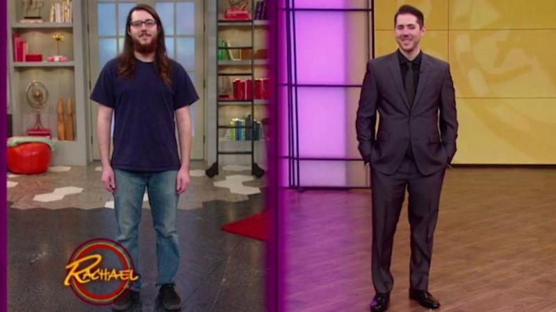 Brandon looks like a completely different person after his makeover. Photo: Rachael Ray