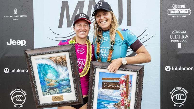 Tyler Wright and winner Stephanie Gilmore contested the final of the season-ending WSL event