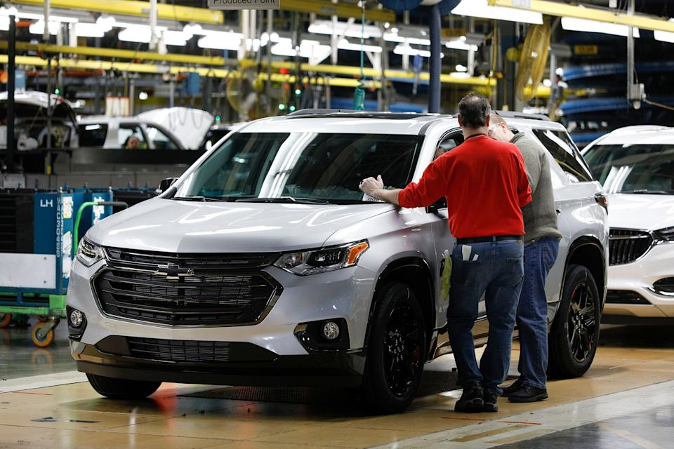 GM's assembly plant in Lansing, Michigan, is among those being temporarily shut down. (Photo: Bill Pugliano via Getty Images)