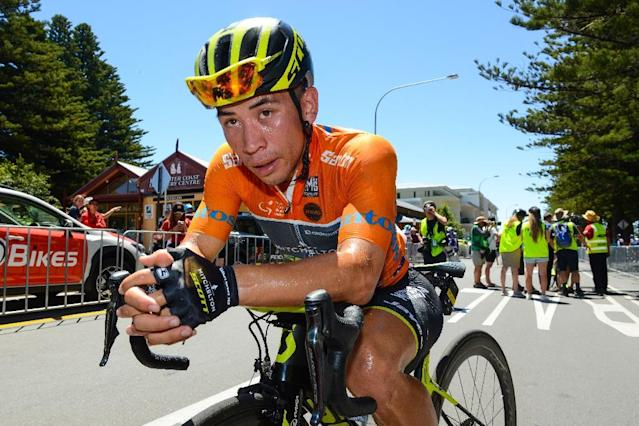 Australian sprinter Caleb Ewan is leaving Mitchelton to join the Belgian Lotto team (AFP Photo/BRENTON EDWARDS)