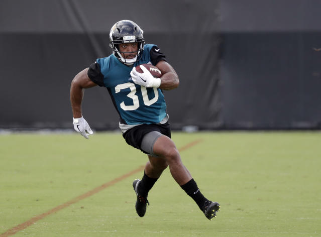 Jacksonville Jaguars running back Corey Grant has upside in deeper leagues. (AP Photo/John Raoux)