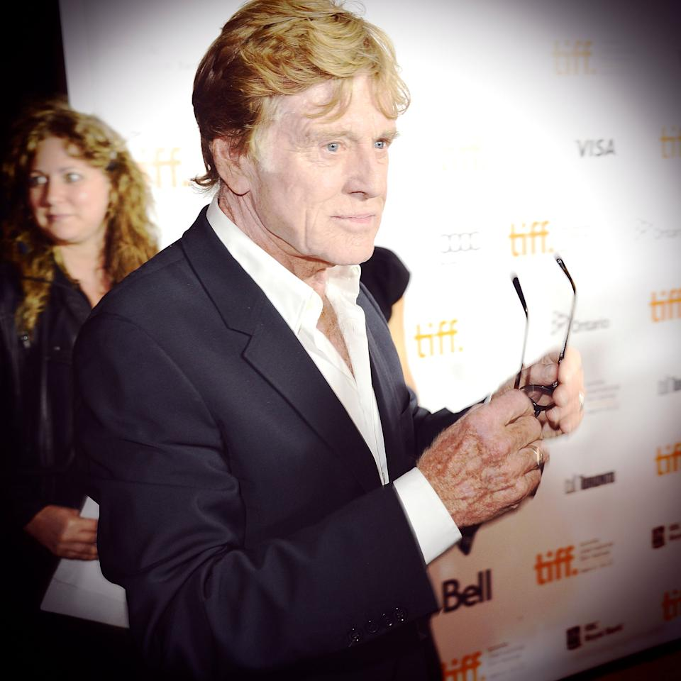 TORONTO, ON - SEPTEMBER 09:  <<(EDITORS NOTE: Image was processed using various digital filters) Director Robert Redford arrives at 'The Company You Keep' Premiere at the 2012 Toronto International Film Festival at Roy Thomson Hall on September 9, 2012 in Toronto, Canada.  (Photo by Jason Merritt/Getty Images)