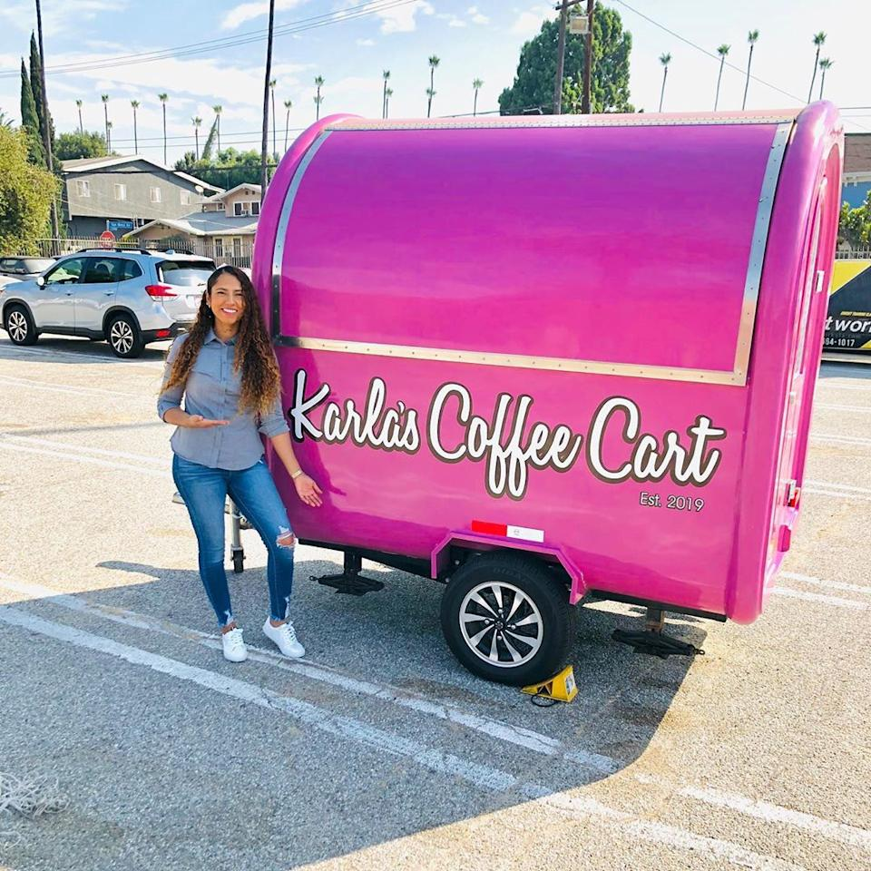 Karla Burton launched her coffee cart in 2019 in L.A. (Photo: Karla Burton)