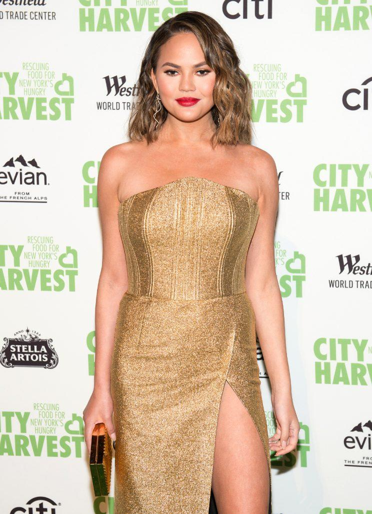 Chrissy Teigen attends event in NYC in April 2017. (Photo: Noam Galai/WireImage)
