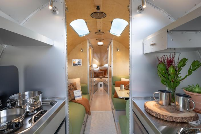 A look inside of the Bowlus Road Chief-2.