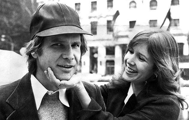 Harrison Ford and Carrie Fisher. Photo: Getty Images