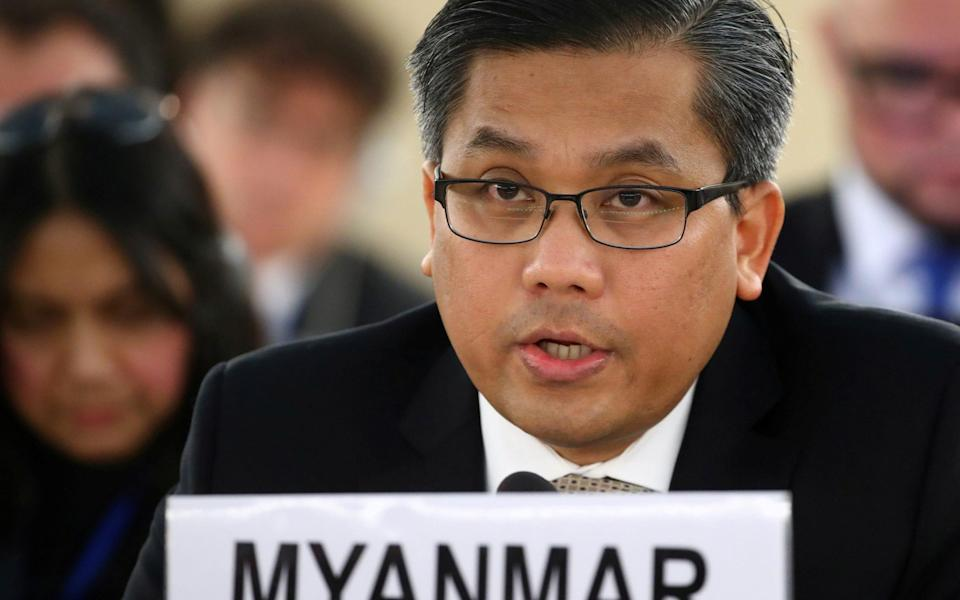 Myanmar's ambassador to the UN is resisting attempts by the junta to replace him - Denis Balibouse/Reuters