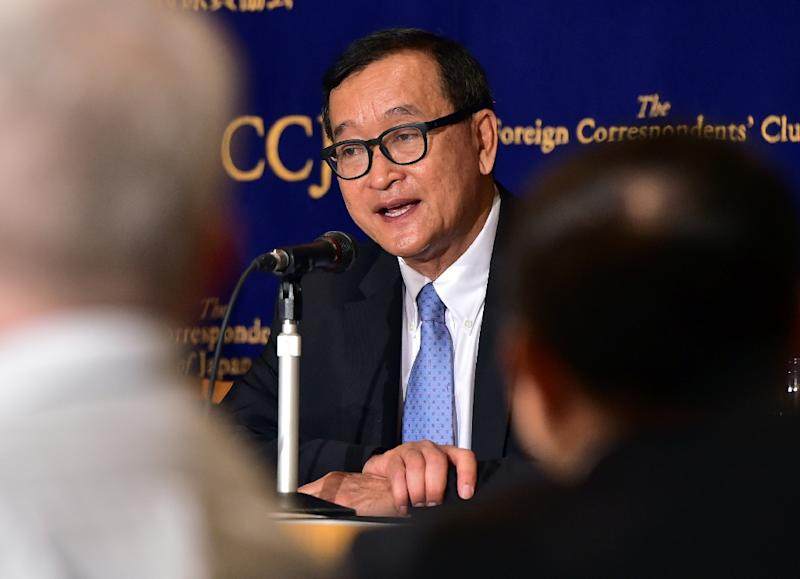 Hun Sen rival Sam Rainsy resigns for 'sake of party'