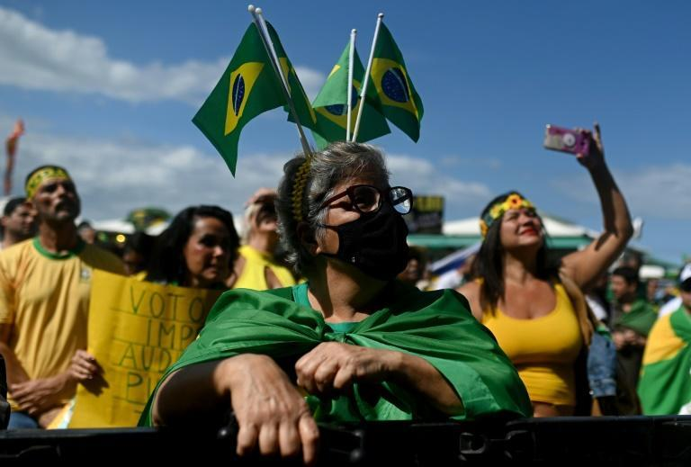 With opposition to both Brazilian President Jair Bolsonaro and his likely chief election rival Luiz Inacio Lula da Silva relatively high, some Brazilians are seeking a so-called third way (AFP/ANDRE BORGES)