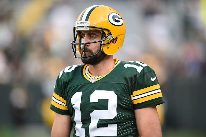 """""""I think society is finally moving in the right direction, as far as treating all people with respect and love and acceptance and appreciation,"""" Aaron Rodgers said."""