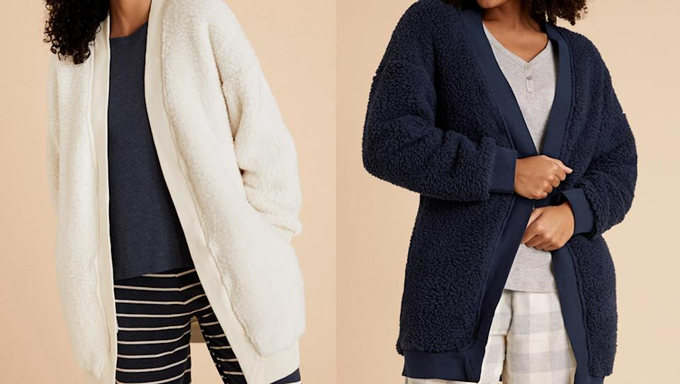 We're adding this cosy cardigan to our basket ASAP (Marks & Spencer)