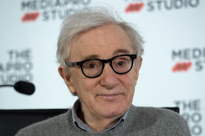 US director Woody Allen holds a press conference in the northern Spanish Basque city of San Sebastian, where he will start shooting his yet-untitled next film, on July 9, 2019. (Photo by ANDER GILLENEA / AFP) (Photo credit should read ANDER GILLENEA/AFP/Getty Images)