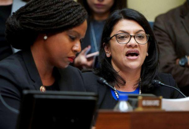 PHOTO: Rep. Rashida Tlaib questions Michael Cohen, the former personal attorney of President Donald Trump, as he testifies before a House Committee on Oversight and Reform hearing on Capitol Hill, Feb. 27, 2019. (Joshua Roberts/Reuters)