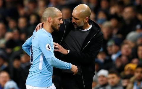 """Pep Guardiola has revealed Leroy Sane is returning to boost Manchester City's Champions League mission, just over two weeks since suffering ankle ligament damage. Sane has flown out with City's squad to Basel for the round of 16 tie and could even start at St. Jakob-Park as City return to European competition. It was initially feared that the Germany international could be sidelined until late March after he was the victim of a dreadful challenge from Cardiff defender Joe Bennett in the FA Cup tie between the two clubs last month. The tackle infuriated Guardiola and sparked off an angry tirade from the City manager over the standard of refereeing and absence of protection for his players. But Sane has only missed Premier League games against West Bromwich Albion, Burnley and Leicester and has made himself available as Guardiola pursues the quadruple. David Silva is also back from injury Credit: Action Images David Silva and Fabian Delph are also in City's squad, after returning from injuries, but it is the swift return of Sane that has stunned Guardiola. If the winger does appear against FC Basel, it will ensure he has returned five weeks ahead of schedule. Guardiola said: """"I'm surprised but he has worked a lot. I couldn't expect it with a young guy, to be so professional. """"He's not in perfect condition but he has run a lot and he wants to help us. He is with us and that's good news. They have done a good job, both the physio's and himself."""" When asked if Sane could start, Guardiola smiled and replied simply: """"He's young"""". Sitting next to Guardiola was Vincent Kompany and there was a wonderful moment when the City captain remarked on Sane's swift return by admitting """"a bit longer than I usually take"""", in reference to his persistent injury problems. Kompany is likely to be involved against the Swiss champions and has admitted it is now City's time to finally issue a statement of intent in this competition. The Belgium international knows from painful experience how C"""