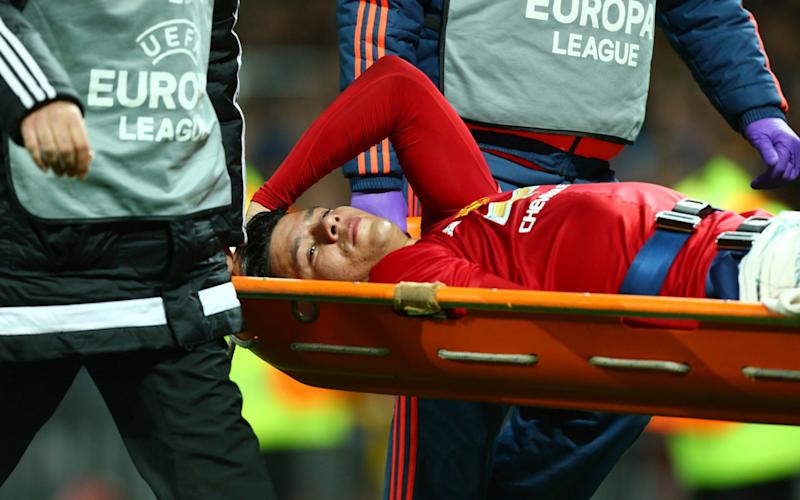 Marcos Rojo -Manchester United confirm Zlatan Ibrahimovic and Marcos Rojo both sustained significant knee ligament damage in Europa League tie - Credit: AP