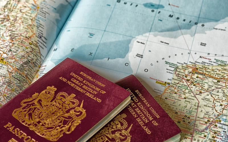 For many Britons the life of their passport has been cut from 10 to less than nine and a half years - This content is subject to copyright.