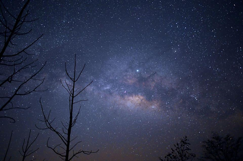 This long-exposure photograph shows the Milky Way in the sky above Taungdwingyi, nearly 100km from Naypyidaw, on early March 10, 2019: YE AUNG THU/AFP via Getty Images