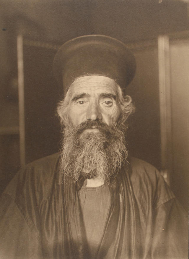 <p>Rev. Joseph Vasilon, Greek-Orthodox priest. (Photograph by Augustus Sherman/New York Public Library) </p>