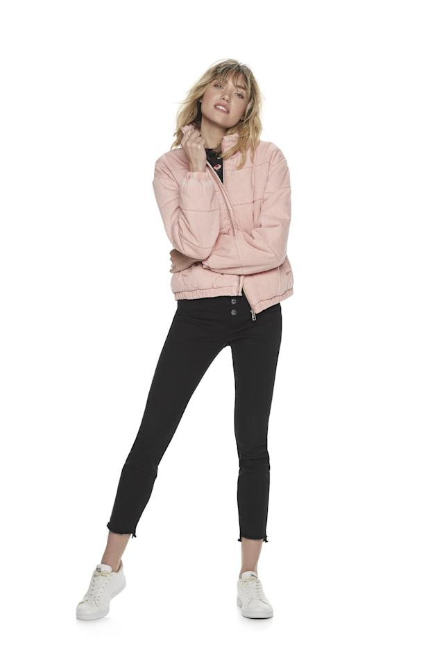 """<p>""""I love a cute and cozy coat and this new puffer jacket is a practical, cold-weather version with a modern twist. I'll be layering mine over sweaters, sweatshirts, and tees throughout Winter. This pink color is coming soon, but you can shop the <a href=""""https://www.popsugar.com/buy/POPSUGAR-Puffer-Jacket-505205?p_name=POPSUGAR%20Puffer%20Jacket&retailer=kohls.com&pid=505205&price=98&evar1=fab%3Aus&evar9=46805008&evar98=https%3A%2F%2Fwww.popsugar.com%2Ffashion%2Fphoto-gallery%2F46805008%2Fimage%2F46805011%2FPOPSUGAR-Denim-Puffer-Jacket&prop13=api&pdata=1"""" rel=""""nofollow"""" data-shoppable-link=""""1"""" target=""""_blank"""" class=""""ga-track"""" data-ga-category=""""Related"""" data-ga-label=""""https://www.kohls.com/product/prd-3909300/womens-popsugar-denim-puffer-jacket.jsp?prdPV=1"""" data-ga-action=""""In-Line Links"""">POPSUGAR Puffer Jacket</a> ($98) in denim now!""""</p>"""