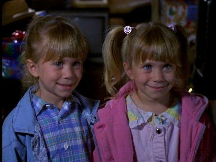 """young Mary-Kate and Ashley Olsen in """"To Grandmother's House We Go."""""""