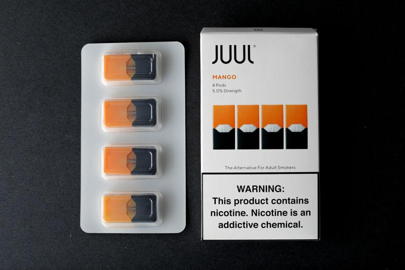 FILE PHOTO: JUUL e-cigarette vaping pods are shown in this picture illustration