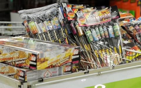 Sainsbury's becomes the first major supermarket to stop selling fireworks following concern for pets - Credit: www.alamy.com