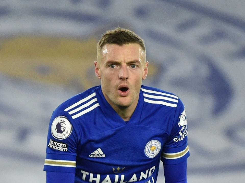 Jamie Vardy will miss Leicester's upcoming run of fixtures (Reuters)