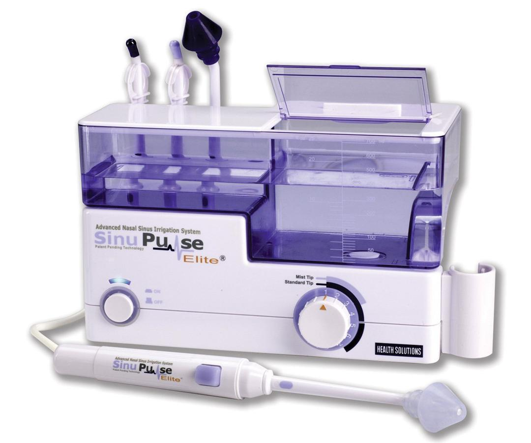 """<p>The SinuPulse system was developed by the creators of the Water Pik and uses a pulsating action to clean and moisturize the nose. The machine was easy to set up but, like a neti pot, I had trouble getting the water to flow in one nostril and out the other. The unit also comes with a throat irrigator tip and a tongue cleaner and is eligible for reimbursement by many insurance providers and health savings accounts.</p><p>$80 